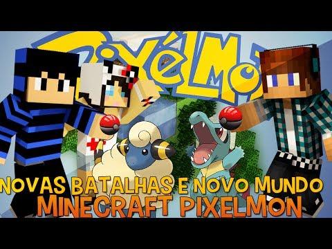 Pixelmon Ep.9 - Pokemons Lendários e Novo Mundo !! [Re-Up]