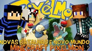 pixelmon ep 9 pokemons lendrios e novo mundo re up