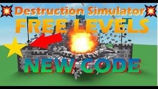 💥Nuevo código - NIVELES GRATUITOS 🌟 ? Simulador de destrucción ( Destrucción Desm. Roblox