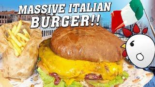 Italian Kiloburger Gourmet Man vs Food Challenge in Eastern Italy!!