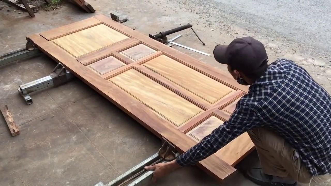 Amazing Woodworking – How To Build New Door From Hardwood DIY