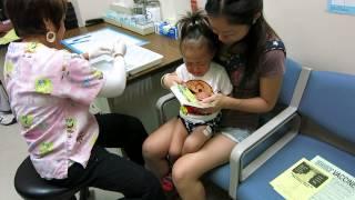 1歳半検診時、本来の3発に2歳検診の1発もついでに打ったらしい.