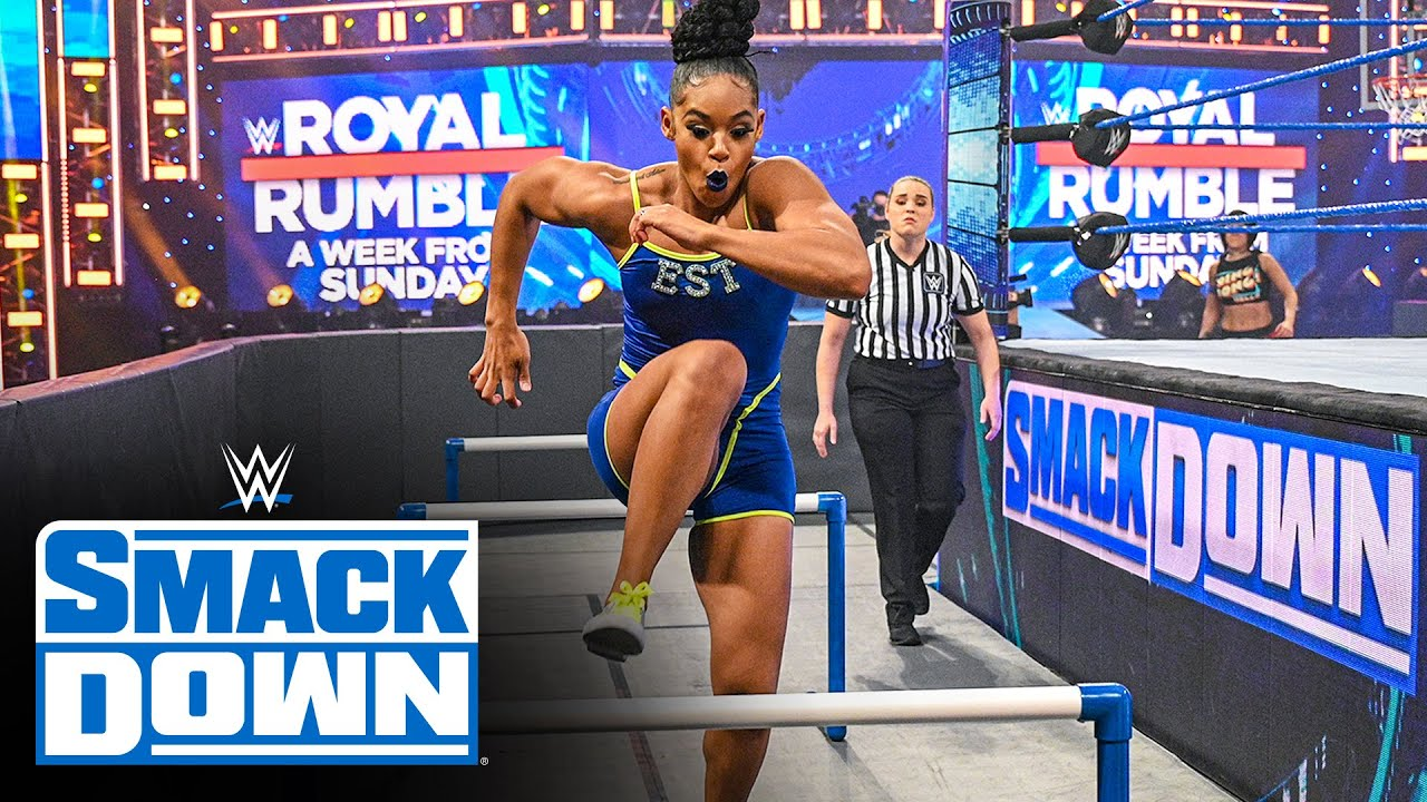 Download Bianca Belair soars through Bayley's Ultimate Athlete Obstacle Course: SmackDown, Jan. 22, 2021
