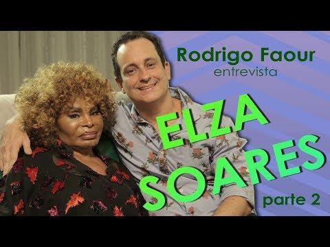 Elza Soares fala sobre negritude, Madonna, homens e Cazuza com Rodrigo Faour