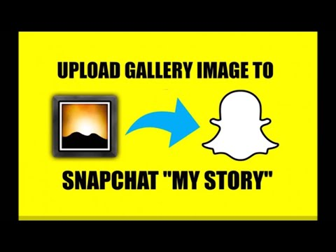 HOW TO UPLOAD SNAPCHAT MY STORY IMAGE/VIDEO FROM GALLERY  CASPER APP