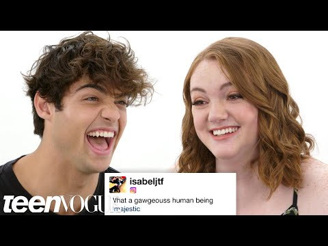 Noah Centineo & Shannon Purser Compete in a Compliment Battle  Teen Vogue