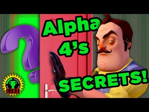 GTLive: What SECRETS Does Alpha 4 Hold?! | Hello Neighbor