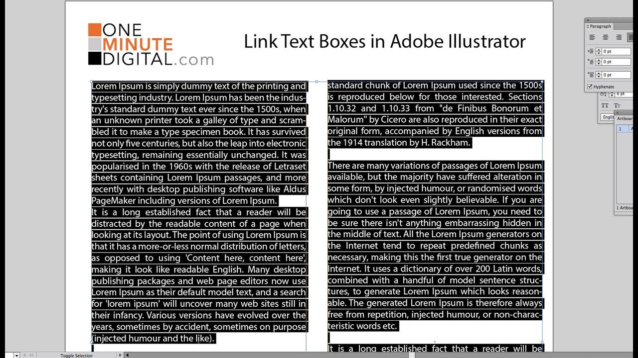 Link text boxes in illustrator cs6 youtube ccuart Choice Image