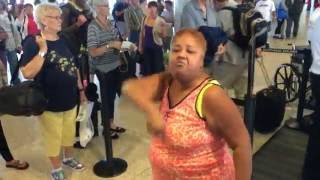Crazy lady in the Seattle Airport