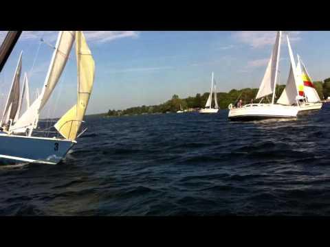 An Intense Sail Race Start