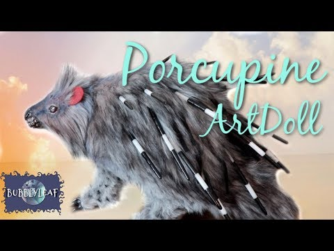 Realistic Porcupine || Posable ArtDoll Tutorial
