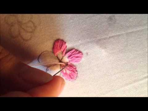 Thêu Truyền Thống: Hoa