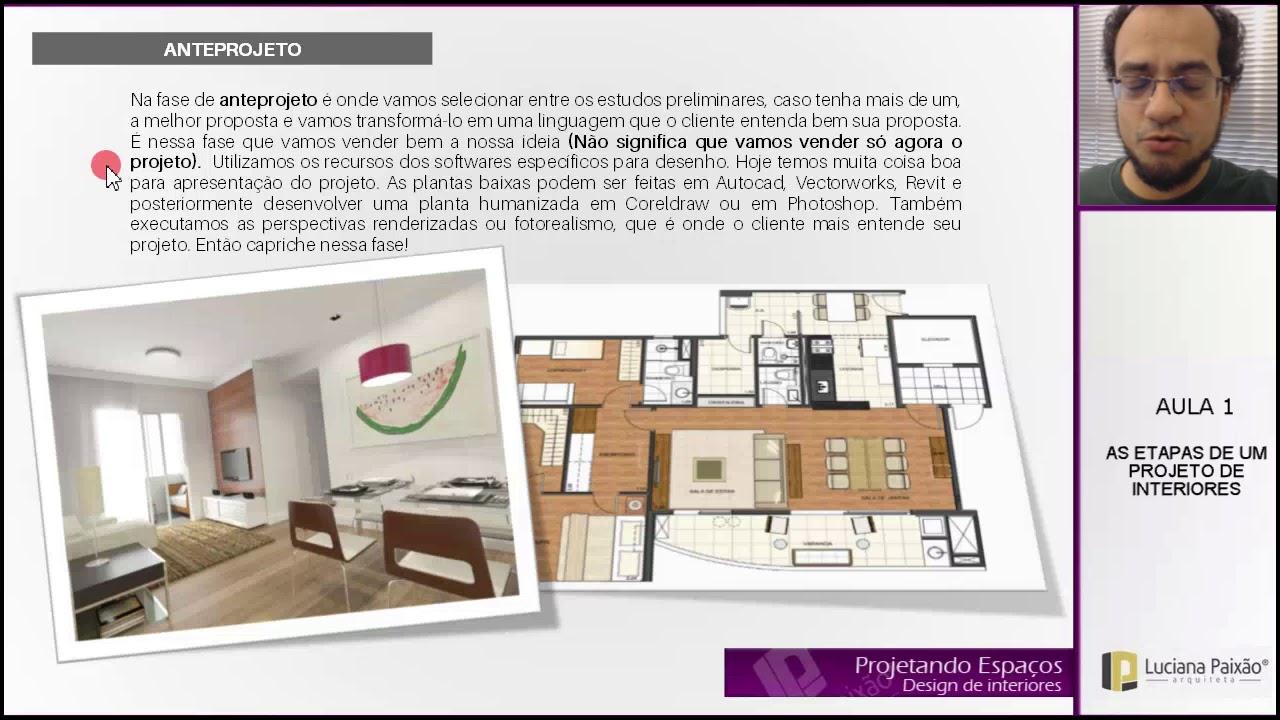 Mini curso de Design de Interiores: AULA 01 – AS ETAPAS DE