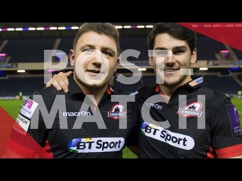 Edinburgh's half-backs reflect over a win over Stade Francais