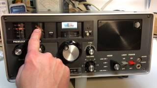Yaesu FRG-7 Shortwave Radio Operation And Hands On Use