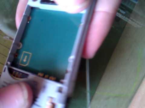 Sony Ericsson K770i auseinanderbauen