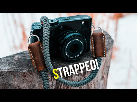 Making A Snake Knot Paracord Camera Strap With LEATHER x PARACORD x TITANIUM!