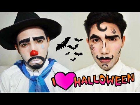 tutorial maquillajes para hombre faciles de halloween