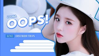 LOONA (이달의소녀) - OOPS! (Line Distribution)