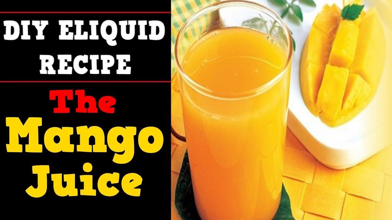 diy eliquid - the mango juice 70vg (fruity diy ejuice recipe w