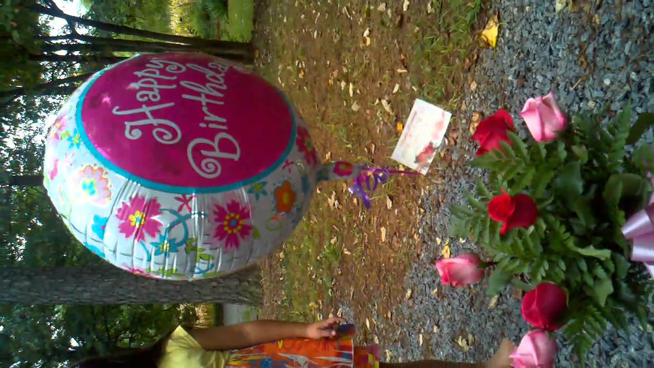 Desirees Flowers For Her 15 Th Birthday Youtube
