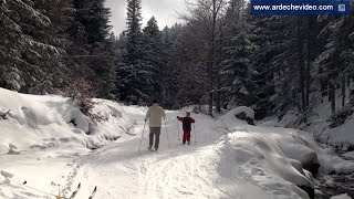 Ardèche - Ski de fond à La Chavade