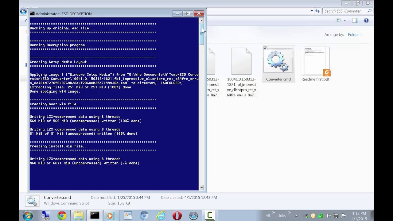 ESD To ISO - Create Windows 10 Bootable ISO from ESD File