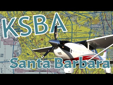 Flying to Santa Barbara airport (KSBA) in HD.