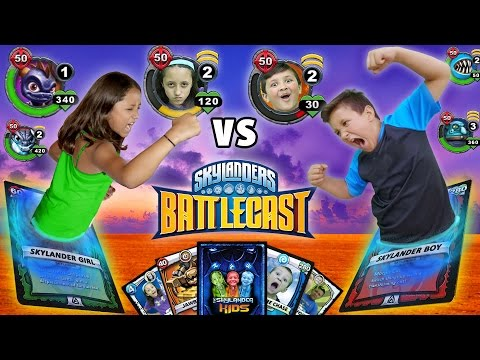 REAL LIFE SKYLANDERS BATTLECAST FIGHT w/ Magic Cards!!