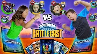 real life skylanders battlecast fight w magic cards