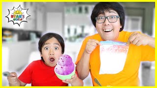 Homemade Ice Cream in a bag Kids easy DIY Science Experiments