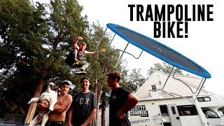 CRAZY TRAMPOLINE GAME OF BIKE!
