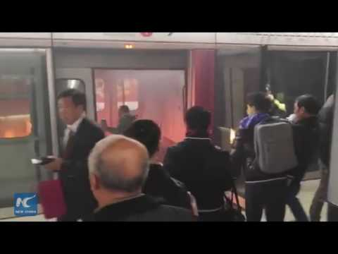 At least 11 injured in Hong Kong subway fire