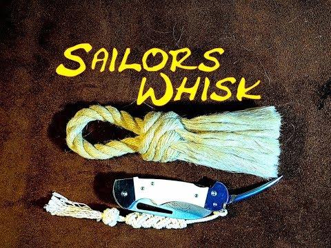 Sailors Whisk Sailors Swab Sailors Brush How to Make -Matthew Walker Knot Version