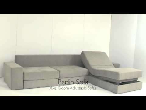 Axel Bloom Sofa Futon Bed Sectional Couch Set Ottoman Sleeper Berlin Sofabed Youtube