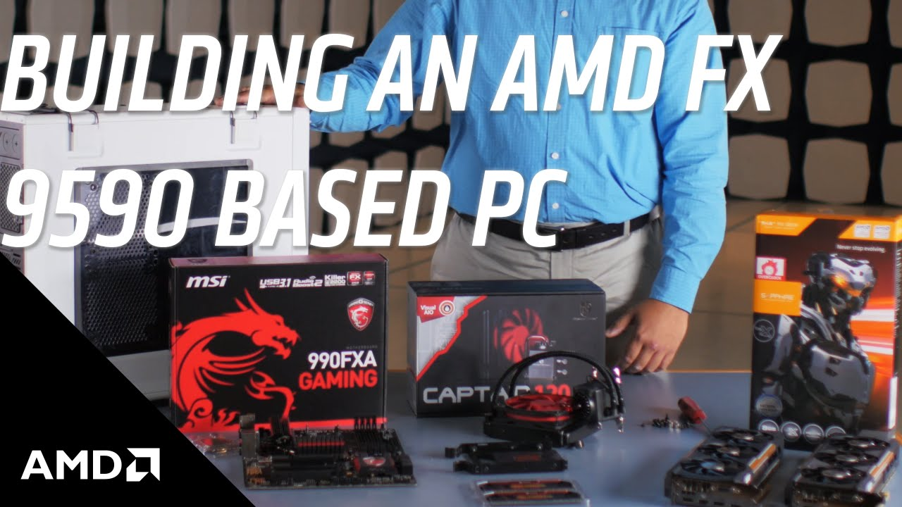 How To Build An Amd Fx 9590 Cpu Based Pc Youtube