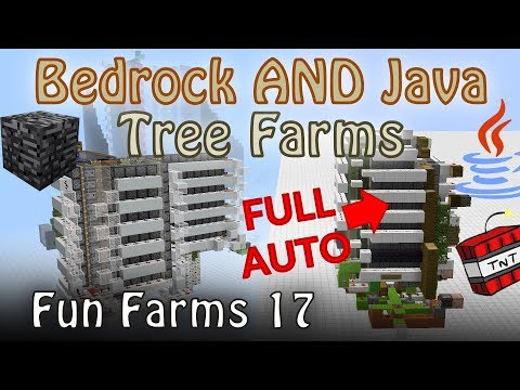 Truly Universal Tree Farms for Minecraft Java and Bedrock Editions [Fun Farms 17]