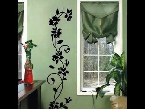 Black Ratten Flower Removable Vinyl Decal Home Decor Wall Stickers