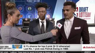 Trae Young and Collin Sexton Interview: NBA Draft Lottery
