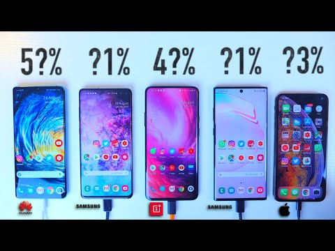 Galaxy Note 10 Plus 5G vs iPhone XS Max P30 Pro OnePlus 7 Pro S10 Plus ULTIMATE Battery Test