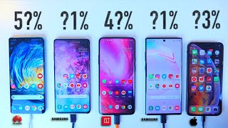 Galaxy Note 10+ 5G vs iPhone XS Max / P30 Pro / OnePlus 7 Pro / S10 Plus - ULTIMATE Battery Test!