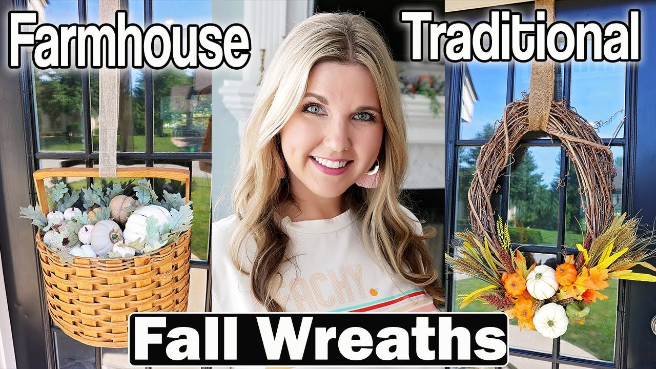Fall Wreath Ideas Traditional 🍂 Farmhouse Fall Wreaths Ideas 2019