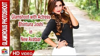 GLAMSHOOT OF ACTRESS BHINTUNA JOSHI  IN NEW AVATAR || NEPALI FASHION 2015