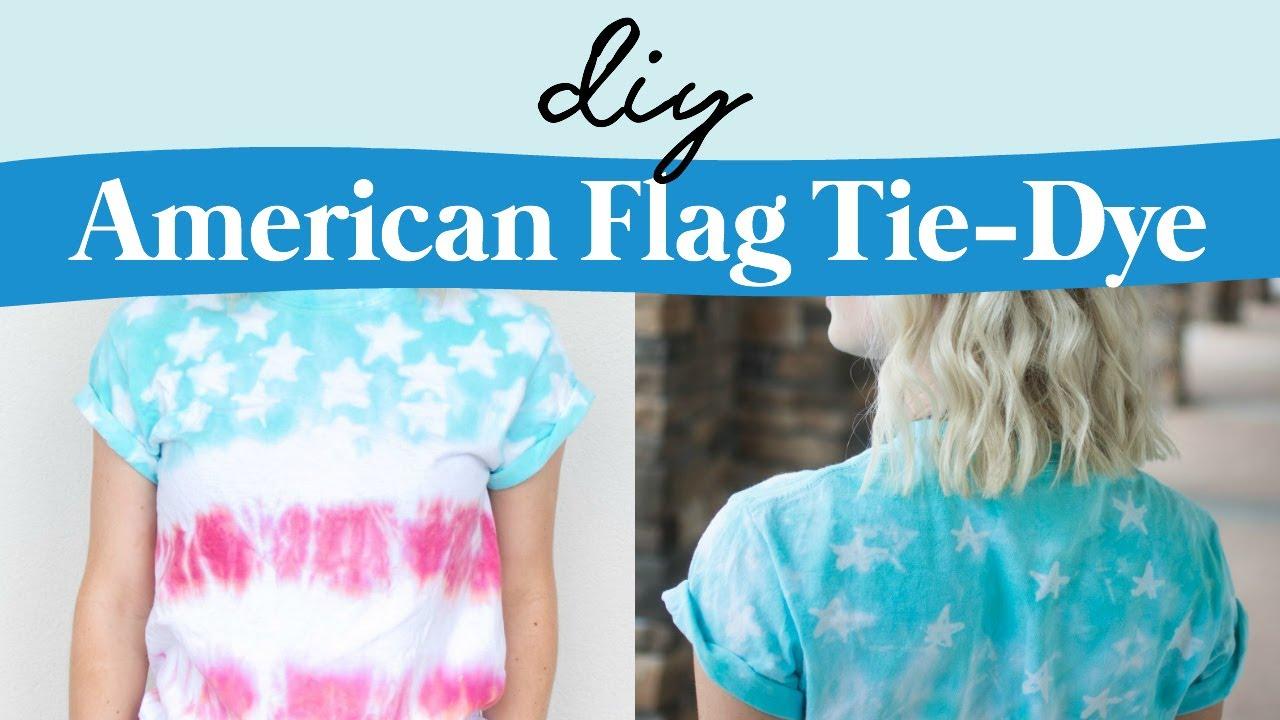 4337cad67bd2 DIY American Flag Tie-Dye Shirt - YouTube