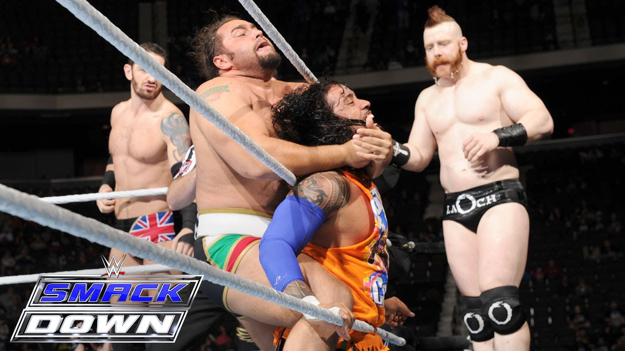Roman Reigns Dean Ambrose The Usos Vs The League Of Nations Smackdown December 10 2015 Youtube