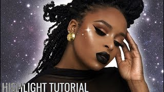 How to apply highlighter for beginners + Best Highlighters on Brown:Dark Skin