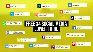 34 Free Social Media Lower Thirds Template for After Effects