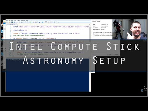 Telescope Mini PC Computer Astrophotography Setup