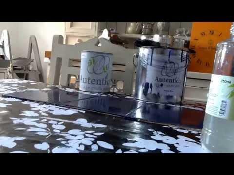 How to Autentico crackle glaze application, simple & effective special paint effects emporium style!
