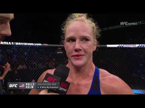 Fight Night Singapore: Holly Holm Octagon Interview